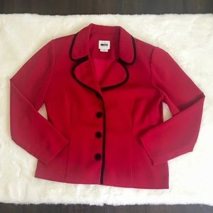 Leslie Fay Jackets & Coats - Red & Black Vintage Blazer